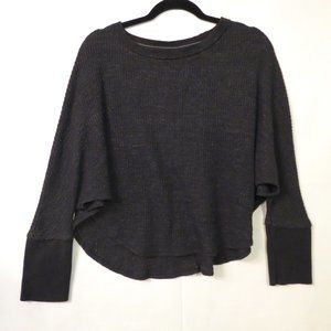 Postmark Anthro XS Thermal knit cropped top Gray